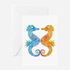 Seahorses in Love Greeting Card