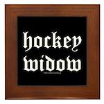 Hockey widow Framed Tile