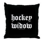 Hockey widow Throw Pillow