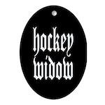 Hockey widow Oval Ornament