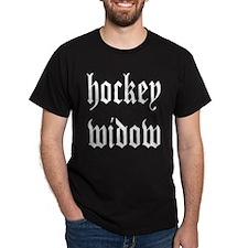 Hockey widow Black T-Shirt