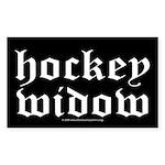 Hockey widow Rectangle Sticker