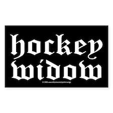 Hockey widow Rectangle Decal