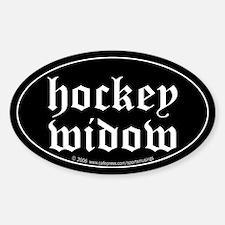 Hockey widow Oval Decal