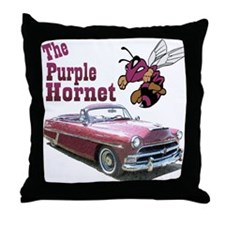 The Purple Hornet Throw Pillow