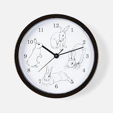 Rabbit Illustration Wall Clock