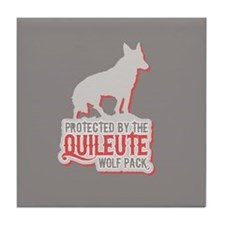 Protected by Quileute Wolfpac Tile Coaster
