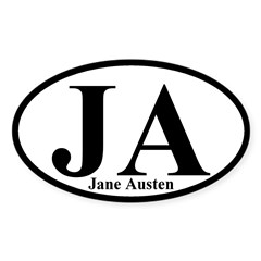 JA: Jane Austen Oval Bumper Decal
