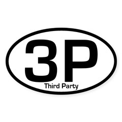 3P: Third Party Oval Bumper Decal