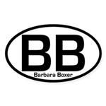 BB: Barbara Boxer Oval Bumper Sticker