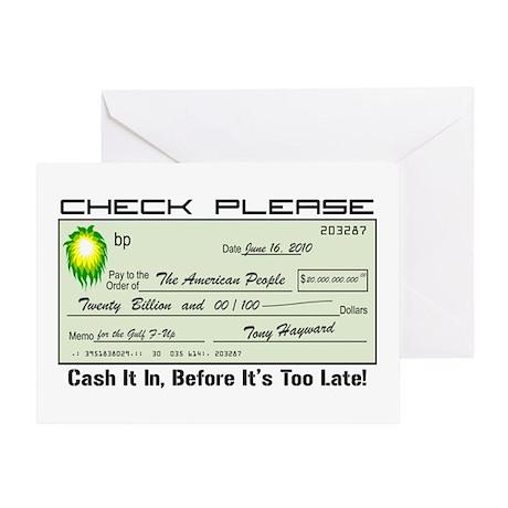 bp Check Greeting Card