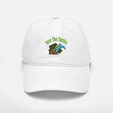 SAVE THE TURTLES Baseball Baseball Cap
