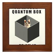 Quantum cat Framed Tile