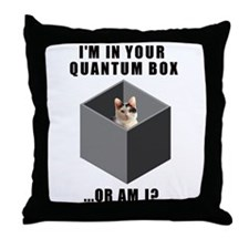 Quantum cat Throw Pillow
