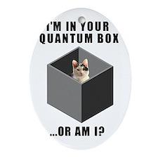 Quantum cat Ornament (Oval)