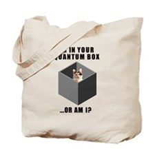 Quantum cat Tote Bag