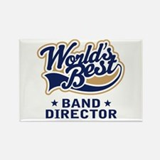 Tan Worlds Best Band Director Rectangle Magnet