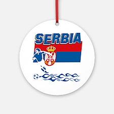 Serbian soccer Ornament (Round)