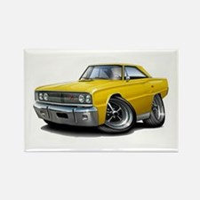 1967 Coronet Yellow Car Rectangle Magnet