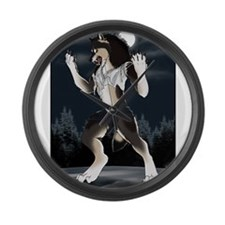 Werewolf Moon Large Wall Clock
