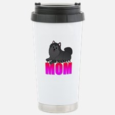 Black Pomeranian Mom Stainless Steel Travel Mug