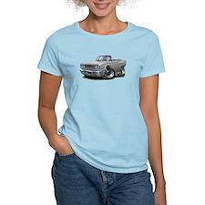 1967 Coronet Silver Convertible T-Shirt