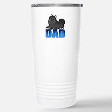 Black Pomeranian Dad Travel Mug