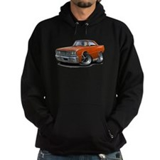 1967 Coronet Orange Car Hoodie