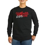 Skateboarding Long Sleeve T-shirts (Dark)