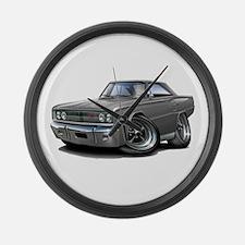 1967 Coronet Grey Car Large Wall Clock
