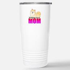 Cream Pomeranian Mom Stainless Steel Travel Mug