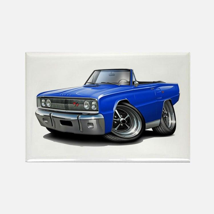 1967 Coronet Blue Convertible Rectangle Magnet