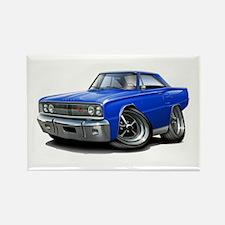 1967 Coronet Blue Car Rectangle Magnet