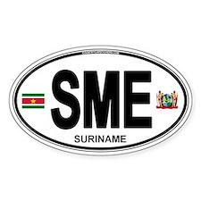 Suriname Euro Oval Decal