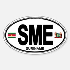 Suriname Euro Oval Decal