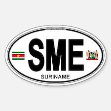 Suriname Euro Oval Sticker (Oval)