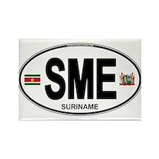 Suriname Euro Oval Rectangle Magnet