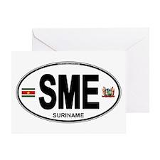 Suriname Euro Oval Greeting Card