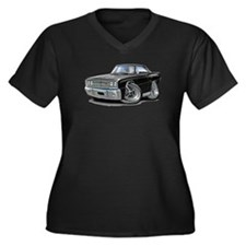 1967 Coronet Black Car Women's Plus Size V-Neck Da