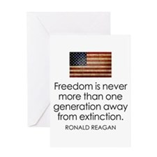 Freedom is never more... Greeting Card