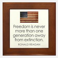 Freedom is never more... Framed Tile