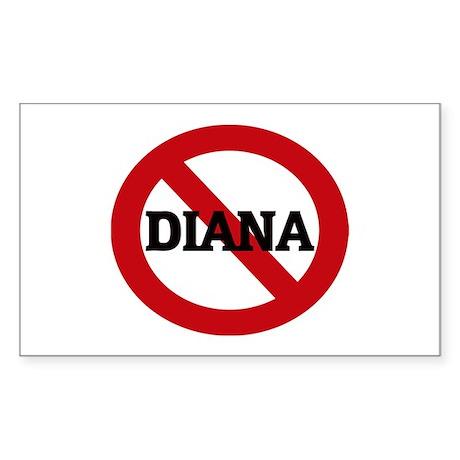 Anti-Diana Rectangle Sticker