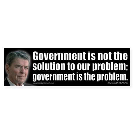 Government is not... Sticker (Bumper)