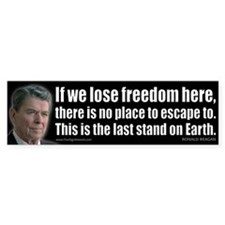 If we lose freedom here... Bumper Sticker
