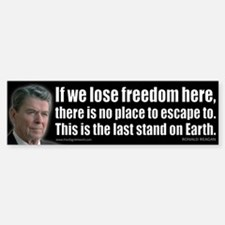 If we lose freedom here... Car Car Sticker