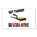 Get Tanked! Sticker (Rectangle)