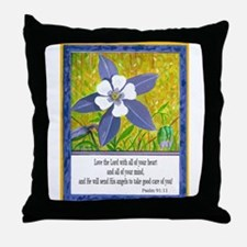 A Delightful Columbine! Throw Pillow