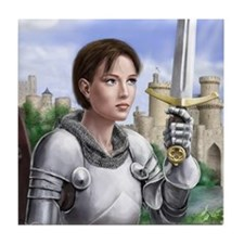 Joan of Arc Tile Coaster