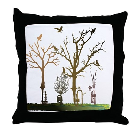 Natural Trumpets Throw Pillow