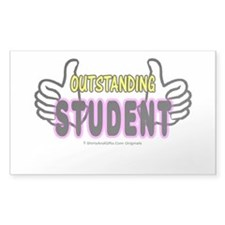 Outstanding Student Sticker (Rectangle)